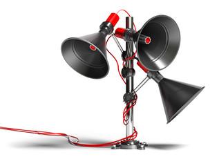 communication audio - 3d musique megaphone concept