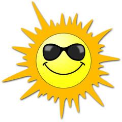 Sole con occhiali