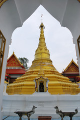Pagoda of thailand in nonthaburi province.