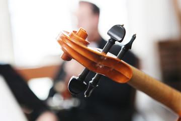 musiker mit streichinstrumenten