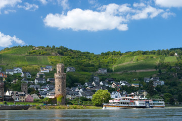 Ausflug mit dem Schiff auf dem Rhein