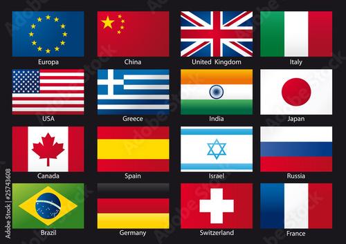 drapeaux des pays - Photo