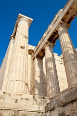 Acropolis temple details, Athens, Greece