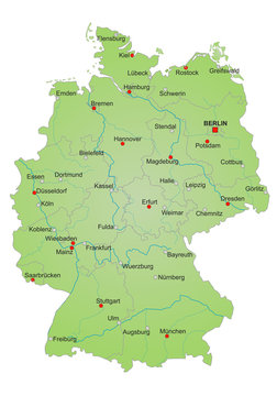 Karte Deutschland vektor