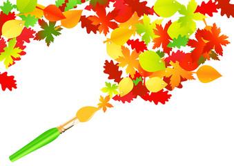 Autumn paintbrush