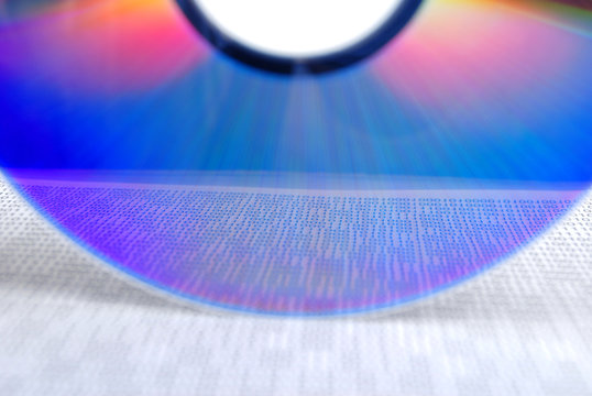 DVD with binary page