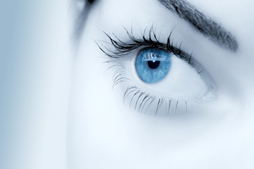 wonderful blue eye close up