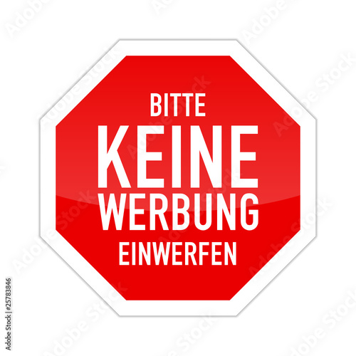 stop schild bitte keine werbung einwerfen i stockfotos und lizenzfreie vektoren auf fotolia. Black Bedroom Furniture Sets. Home Design Ideas