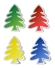 fir tree  stickers