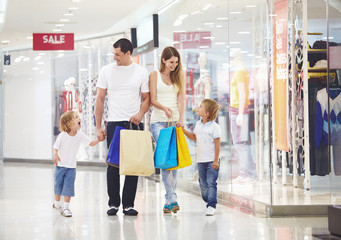 Family on shopping