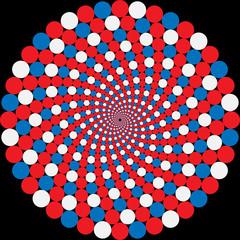 Wall Murals Psychedelic rotating balls. optical illusion
