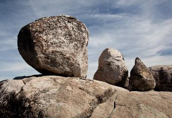 Three balanced boulders