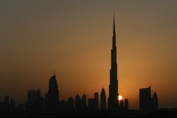 Dubai Skyline Sunset