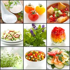 healthy vegetables and herbs