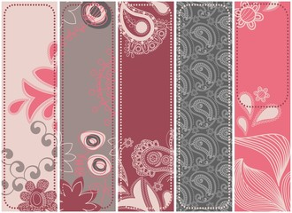 Wall Mural - Vertical floral banners collection in urban colors
