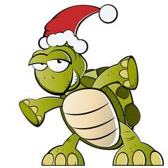 schildkröte weihnachten cartoon