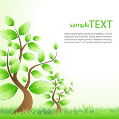 sample text template with tree