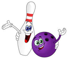 Bowling ball and pin