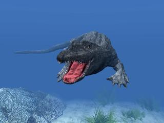 Schwimmendes Krokodil