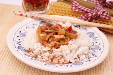 Asiatisches Reisgericht
