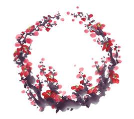 梅の枝[Plum blossoms]
