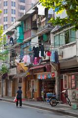 street of laundry, shanghai, china