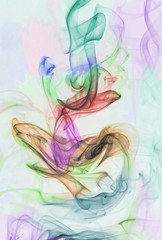 Abstract smoke background colorful