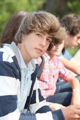 Closeup of high-school student