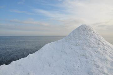 Eisberg und das eisige Meer