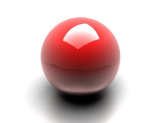 Sfera rossa 3d