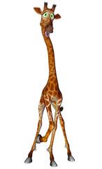 giraffe cartoon stand up
