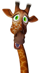 giraffe cartoon close up