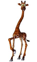 giraffe cartoon walking