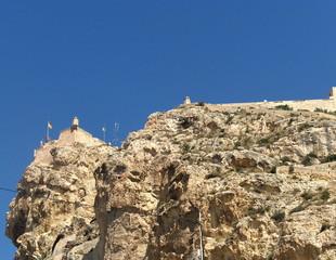 Cara del Rey Moro y Castillo de Santa Bárbara Alicante