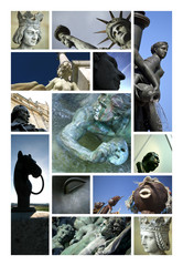 Sculpture statues monument patrimoine art bronze
