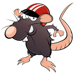 ratte cartoon lustig helm