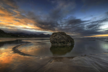 Low Tide at Cannon Beach Oregon