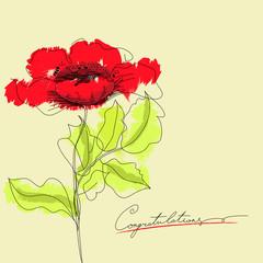 Fotobehang Abstract bloemen Red flowers