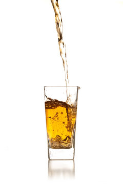 pouring alcoholic beverage