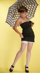 Pin-Ap the girl with an umbrella