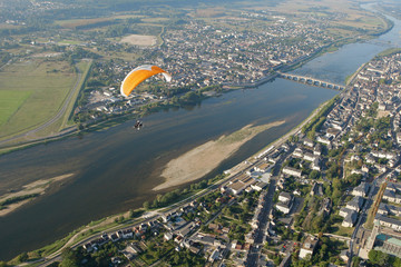 Survol de Blois et de la loire en ULM