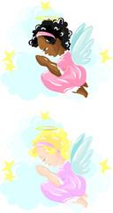 Little praying angel girl