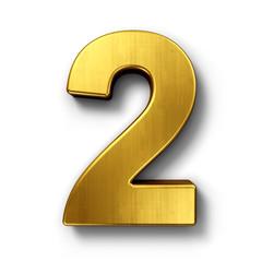 Fototapeta The number 2 in gold obraz