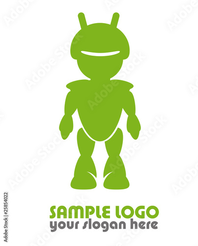 quotandroid robot logo sample template greenquot photo libre de