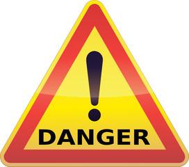 Panneau de signalisation danger temporaire (détouré)