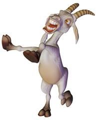 Goat cartoon dancing and singing