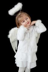 little angel over black