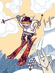 The ski freeride