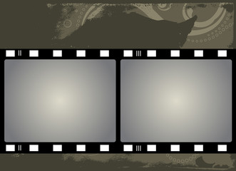 Grunge Vector Film Frame with space for your images