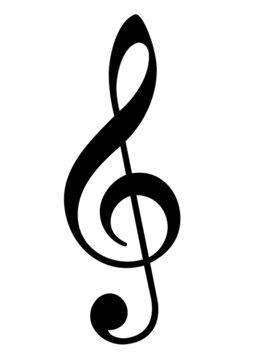 Musical trebel clef